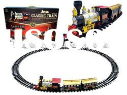 battery operated music smoke track train