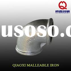 british standard malleable iron pipe fitting, beaded elbow with ribs