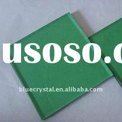 f green glass/ dark green tinted float glass