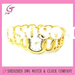 fashion brass watch|bracelet watch for lady|gold color DWG-BX0031