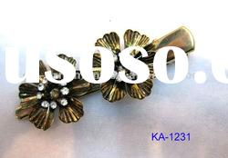 fashion metal hair duck clip with crystal for women
