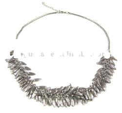 fashion necklace with alloy bead chunky