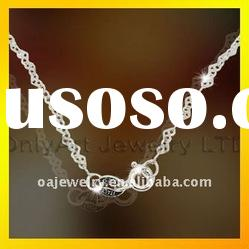 high quality 925 silver jewelry necklaces for lady paypal acceptable