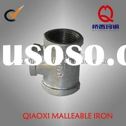 hot dipped galvanized iron pipe fittings banded type with NPT thread