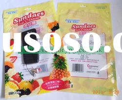 plastic candy packaging bag with hang hole