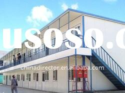 prefabricated two storey steel construction building