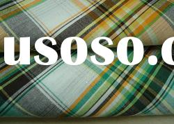 100% cotton yarn dyed check fabric