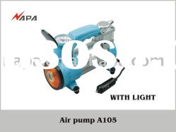 12V DC Metal air compressor, Portable air compressor with working light