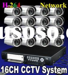 16CH IR ccd Camera mobile Phone supported cctv video camera systems