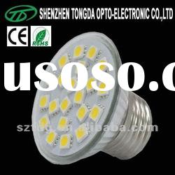 18pcs 5050 smd 12v led spot e27 lamp base