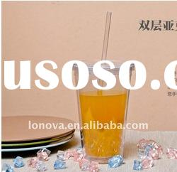 2011 new design products plastic cup with lid and straw