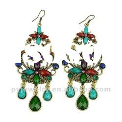 2012 Spring & Summer Design Crystal New Fashion Chandelier Dangle Earrings