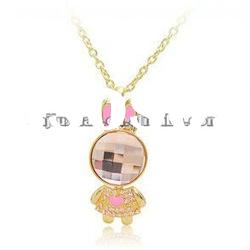 2012 fashion crystal rabbit necklaces jewelry