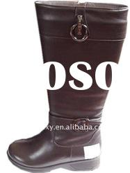 2012 fashion women high flat leather boots