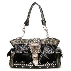 2012 newest fashion lady handbag in black color