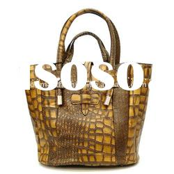 2012 newest fashion lady handbag in brown color