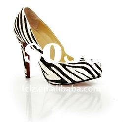 2012 zebra brand name women shoes CLF053 paypal accept