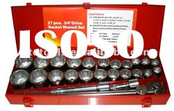 27piece socket set,,3/4''Drive socket wrench set