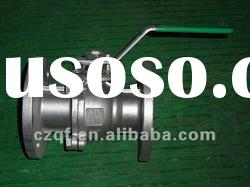 2PC flanged stainless steel full port ball valve ANSI 316/304