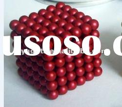 4.7 MM Red Color Neocube Toy-216 PCS Magnetic balls in opp bag