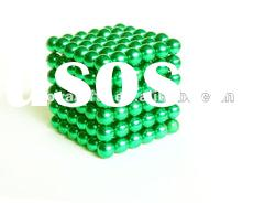 5 MM Green Color Neocube Toy-216 PCS Magnetic balls in opp bag