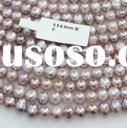 6.0-7.0mm C round freshwater pearl necklace for wholesale