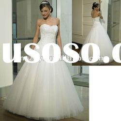 Classic Stylish Off the Shoulder Top Tulle layer Skirt Beaded Bodice fashion wedding dresses WD1247