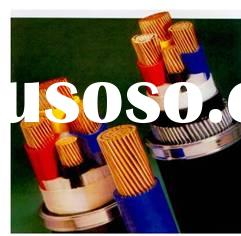 Copper cores, PVC insulated PVC sheathed armored power cables