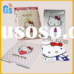 Cute hello kitty tablet case for ipad 2 hard cover