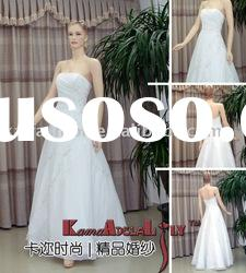EB091 top qualiry No Minimum Order wedding dress strapless floor length dress corset back