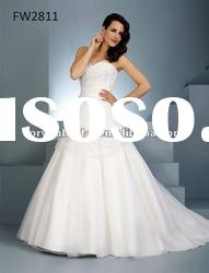 FW2811 Sweetheart Full Length Organza Brides Wedding Dress