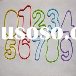 Figure shaped silicone rubber band BG-020