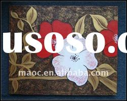 Handmade colorful flower oil painting