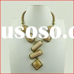 High End Costume Jewelry,Zinc Alloy Ladies Brown Necklace