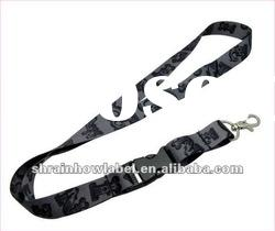 High quality printed polyester satin detachable lanyard