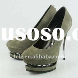 High quality suede leather rivet fashion high heels GL103 paypal