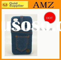 Jeans case for iphone 4,newest case for iphone 4 with fashion Jean