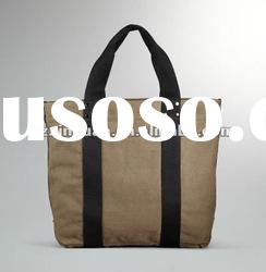 Latest canvas tote bag leather handle