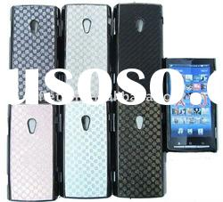 New design ! Plating leather hard back cover case For SonyEricsson Xperia X10