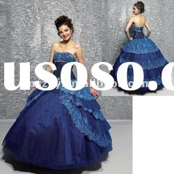 Off Shoulder Top Ball Gown Tiered Lace Skirt Attractive Prom Dresses ! PD4261
