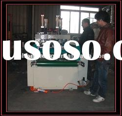 PE Hot sealing and hot cutting machine with automatic punching vest bag making machine