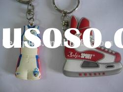 PVC key chain, 3D soft PVC key chain