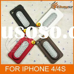 PY- Lang Du Four Colors Multifunctional Stents Style Silicone Case For iPhone 4/4S LF-0425