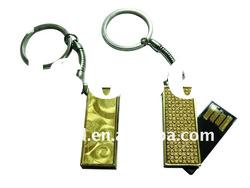 Real capacity mini usb drives with chain