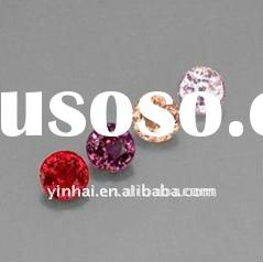 Round Diamond cut synhtetic cubic zirconia,loos CZ gemstones,Cubics, gemstones