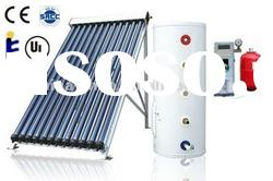 Separated pressurized copper coil solar hot water heater system