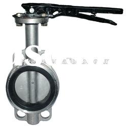 Stainless Steel Wafer Type Rubber Seat Butterfly Valve
