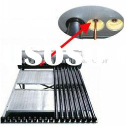 Stainless steel plate compact heat pipe solar hot water heater