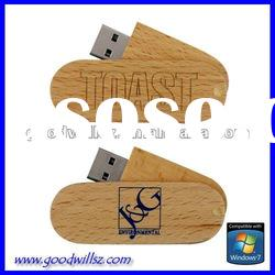 Sustainable material swivel usb flash drive 2gb with logo