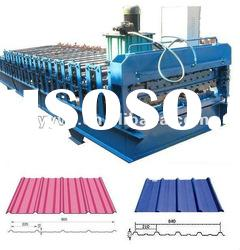 TY840/900 Automatic Double layers corrugated roof tile cold roll forming machinery